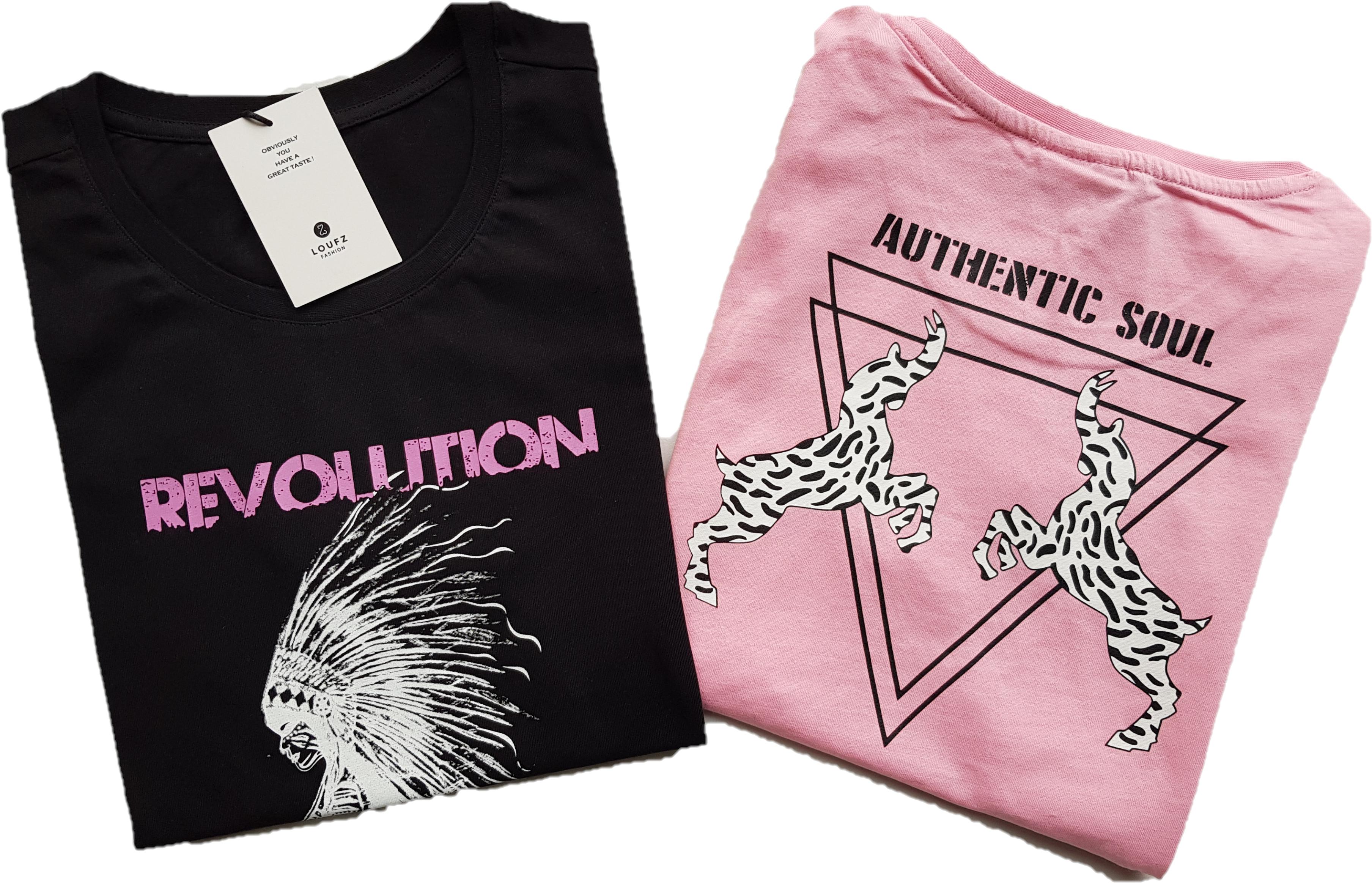 Combi-tshirts-zwart-roze