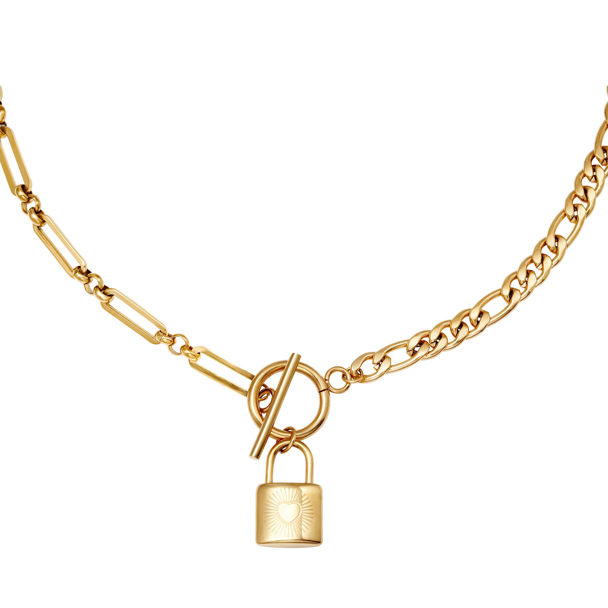 Ketting Chain & Lock Goud