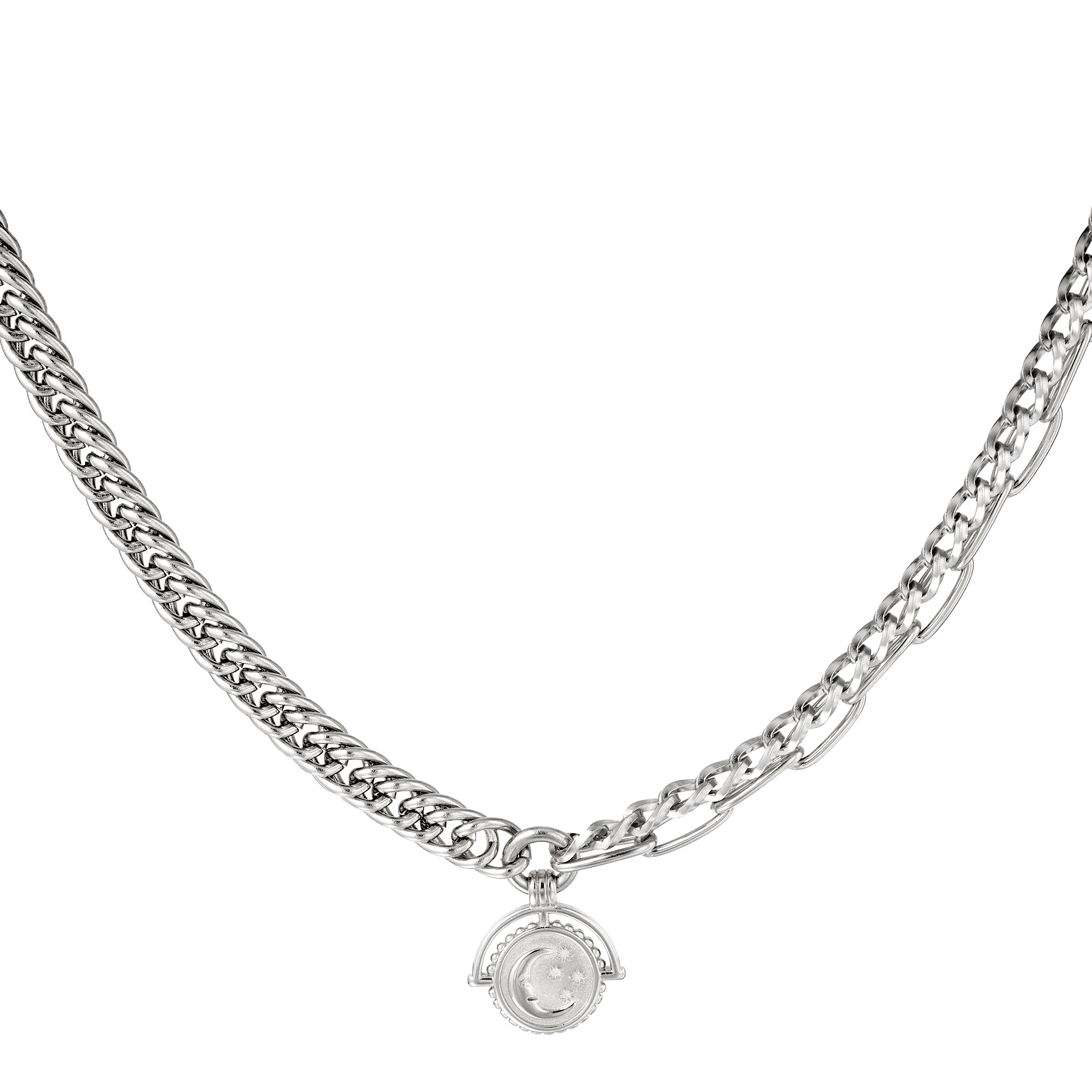 Ketting Chain Moon Zilver