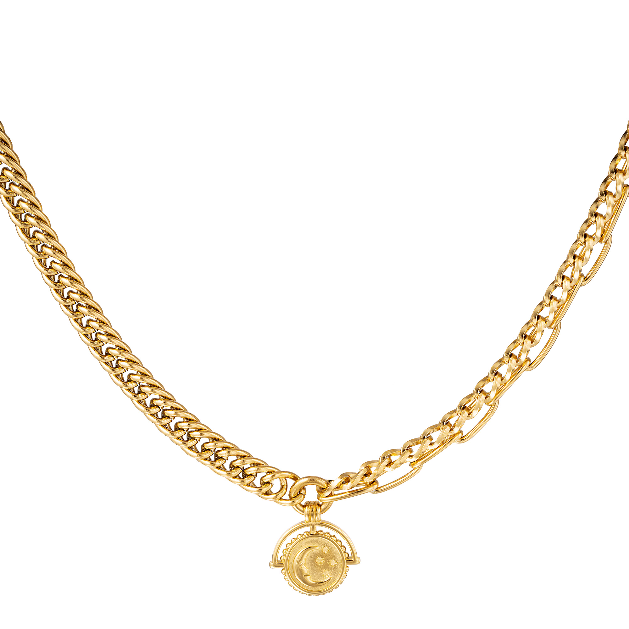 Ketting Chain Moon Goud