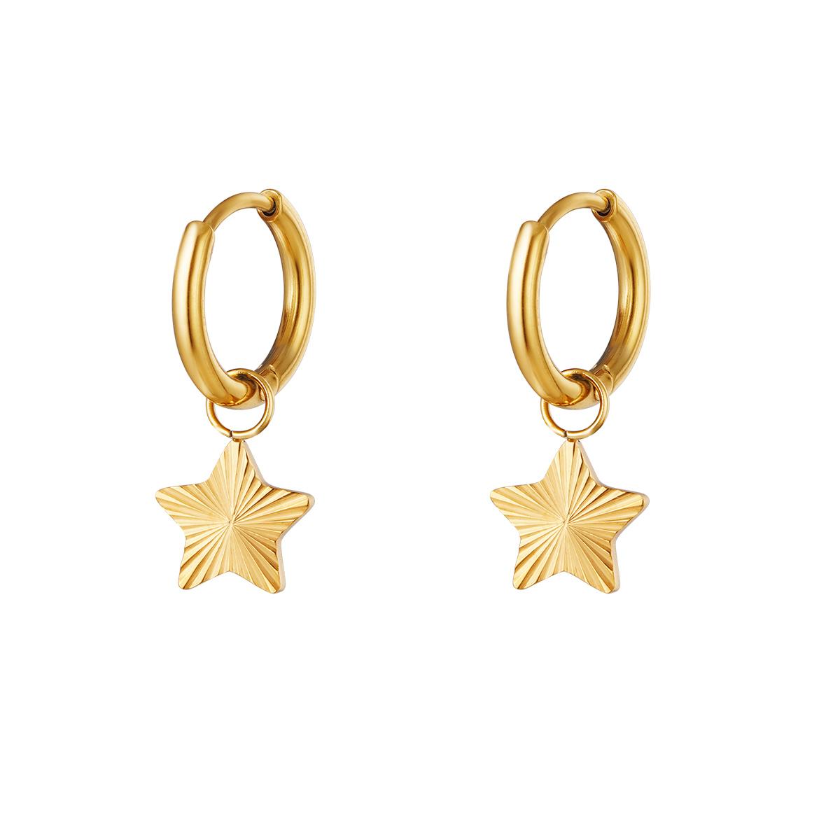 Oorbellen - Stars - Goud